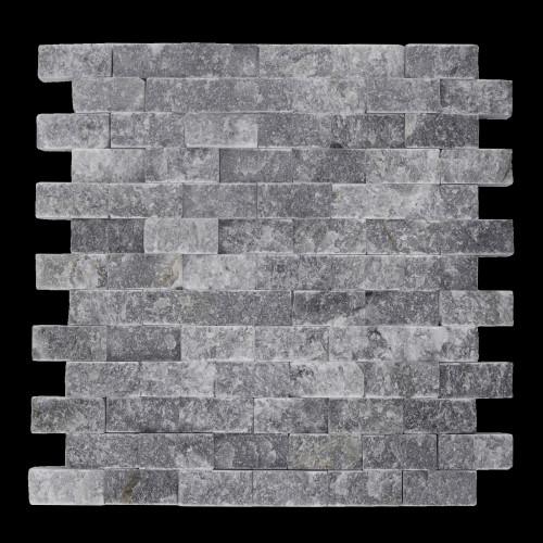 MOZAIC DIN MARMURA DARK GREY PE PLASA 29.5x30